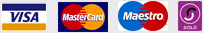 We accept Visa, MasterCard, Maestro & Solo cards